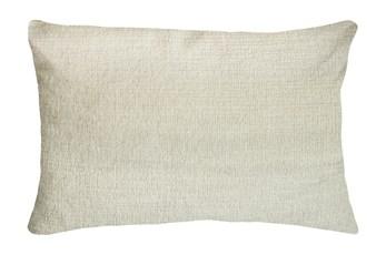 14X20 Preference Cream White Throw Pillow