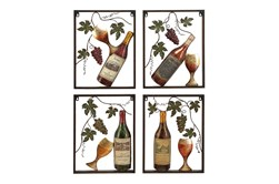 Metal Wine Decor-Set Of 4