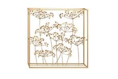 Framed Gold Metal Floral Wall Decor