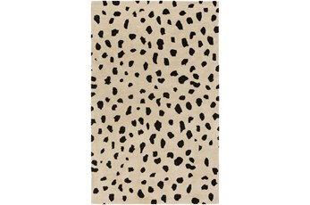 108X156 Rug-Spotty Cream/Black
