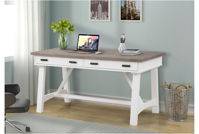 Americana Cotton Modern 60 Inch Writing Desk - 360