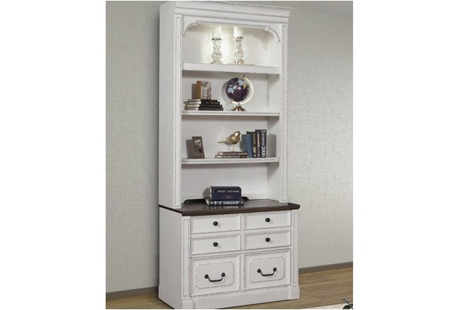 Provence 2Pc Lateral File With  Hutch - 360