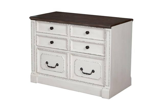 Provence Lateral File With Finished Back - 360