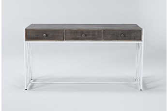 "Ventura Ash 60"" Desk With 3 Drawers"