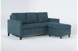 Mikayla Teal Queen Plus Sofa Sleeper Chaise