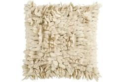 Accent Pillow- Cream Textured Petals 18X18