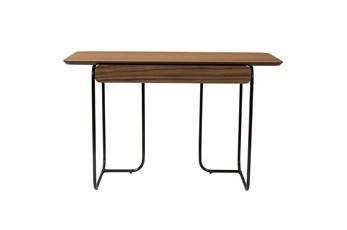 Placentia Walnut 48 Inch Desk With Drawer