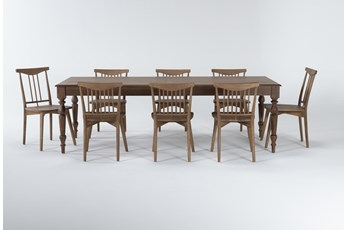 Magnolia Home Webster 9 Piece Dining Set With Low & High Back Chairs By Joanna Gaines