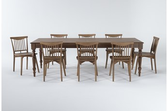 Magnolia Home Webster 9 Piece Dining Set With Low Back Chairs By Joanna Gaines