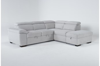 """Dante 104"""" 3 Piece Convertible Sleeper Sectional With Right Arm Facing Storage Chaise"""