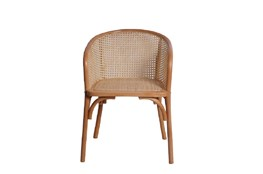 Natural Cane Barrel Back Arm Chair