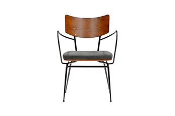Anza Dark Grey Arm Chair