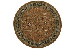 96 Inch Round Rug-Moroccan Spice