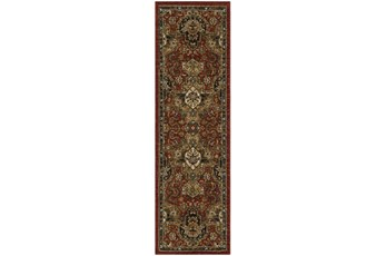 28X94 Rug-Global Medallion Garnet
