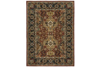 96X132 Rug-Global Medallion Garnet