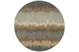 96 Inch Round Rug-Gradient Abyss Blue