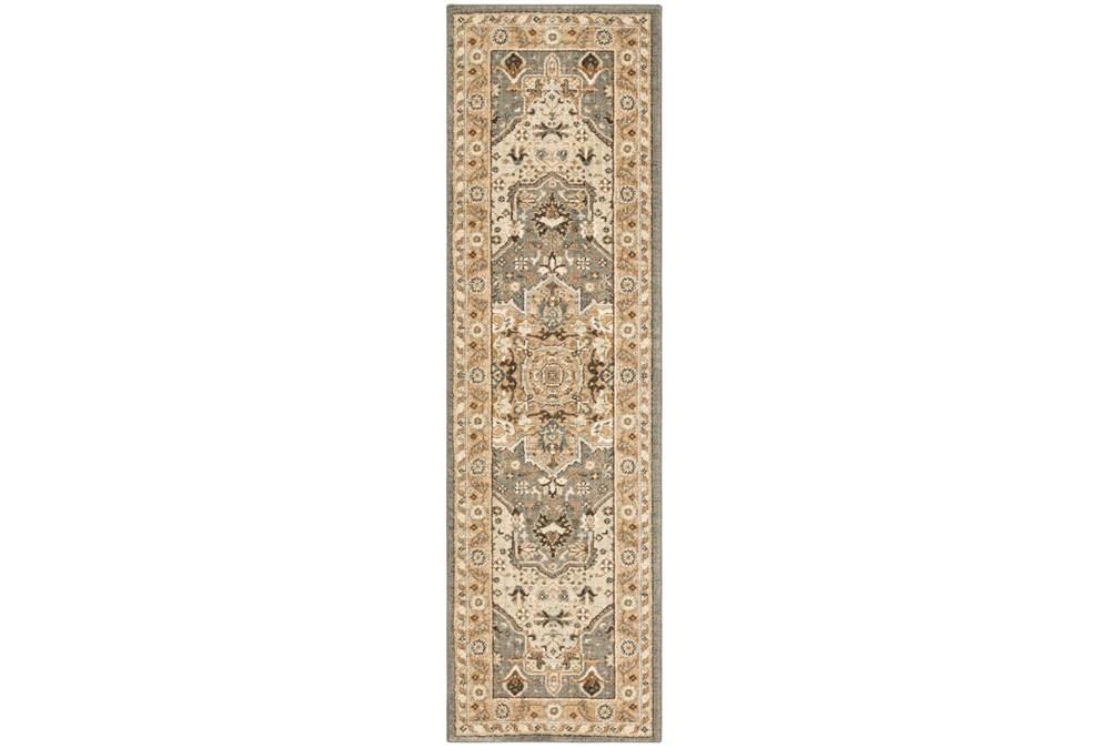 28X94 Rug-Ornate Tapestry Grey