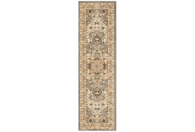 28X94 Rug-Ornate Tapestry Grey - 360