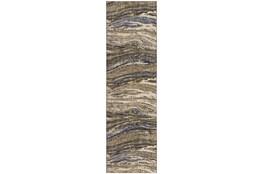 28X94 Rug-Marble Grey