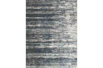 63X90 Rug-Wave Sky Blue & Grey