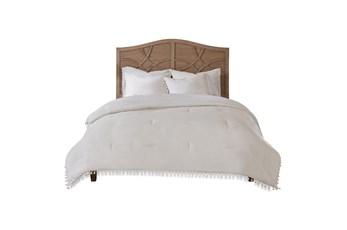 Full/Queen Comforter-3 Piece Set Tassel Edged White